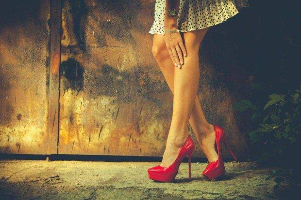 девушка, ноги