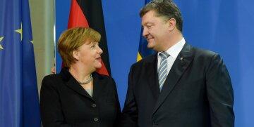 Порошенко, Меркель