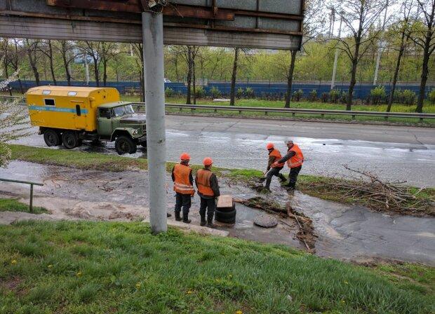 В Киеве на Пасху случился потоп (фото)