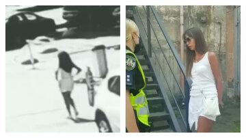 """П'яна дружина митника влаштувала скандал на дорозі в Києві: """"Я просто гуляла з собакою»"""