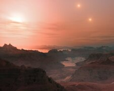 планета с тремя солнцами, космос