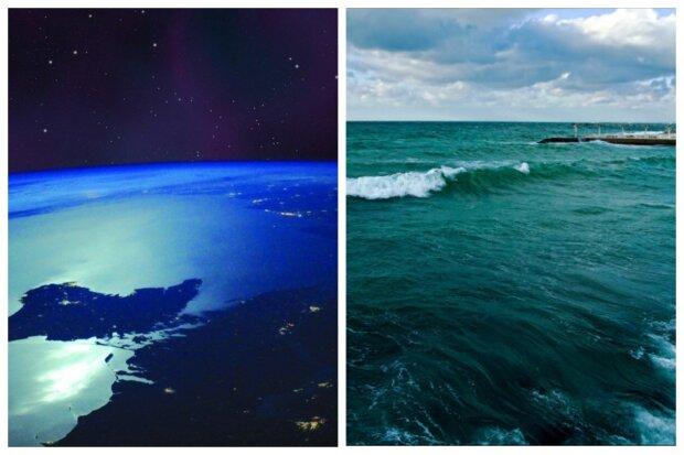 Цветение Черного моря у берегов Одессы показали  из космоса: впечатляющие снимки