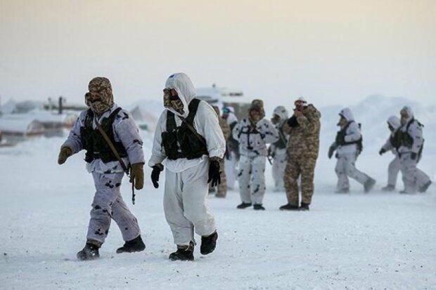 военные, снег, зима