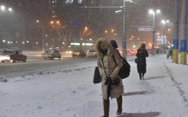 киев снегопад