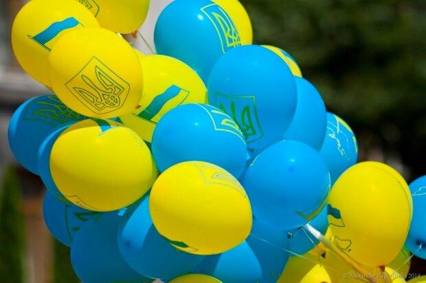 Украина-шарики-флаг