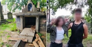 """Малолітні вандали влаштували погром на кладовищі, фото: """"до чого дожилися...."""""""