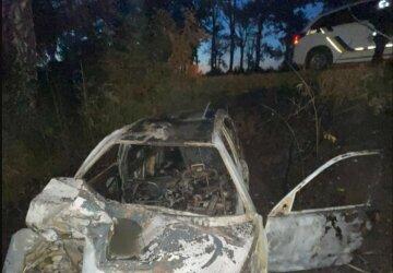 Трагическое ДТП на украинской трассе, от удара авто вспыхнуло: фото аварии
