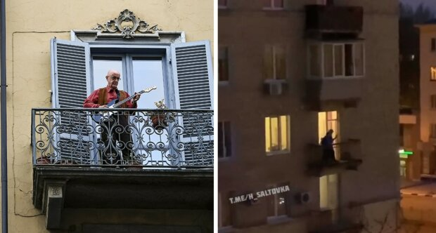 """""""Слушают даже собаки"""": харьковчане повторили путь Италии и вышли на балконы, видео"""