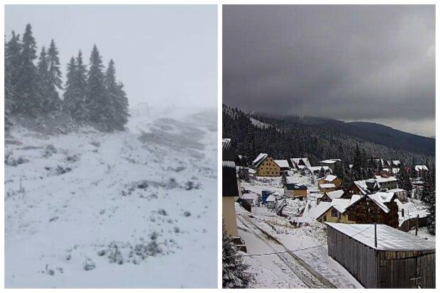 """""""Диво в жовтні"""": сніг обрушився на Україну, кадри зимової казки"""