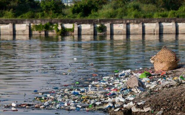 река, мусор