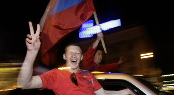 Russia Celebrates Gold Medal Win After 2008 IIHF World Championship