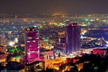 Красивые-фотографии-Киева-Вечерний-Киев-небоскребы