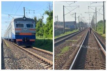 """Поїзд зніс жінку під Одесою, кадри НП: """"люди йдуть пішки"""""""