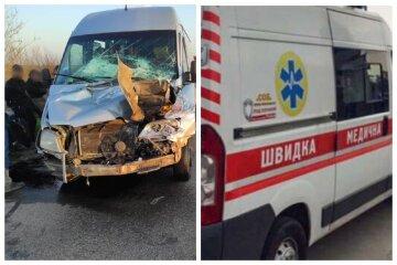 Автобус с пассажирами попал в аварию на трассе Одесса-Киев, скорые развозят пострадавших: кадры