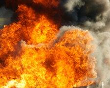 взрыв, дым, огонь