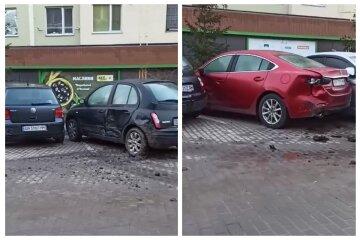 """Масштабна ДТП сталася на парковці в Одесі, кадри: """"Метеорит впав?"""""""