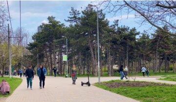 парк, люди, весна