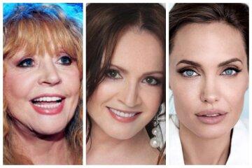 """Пугачова, Ротару, Анджеліна Джолі та інші зірки, які """"перекроїли"""" свої обличчя: топ цікавих фото"""