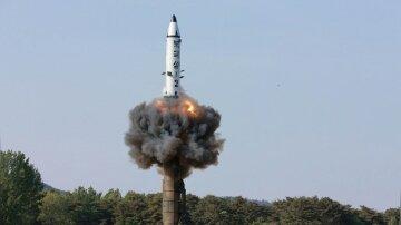 FILE PHOTO — The scene of the intermediate-range ballistic missile Pukguksong-2's launch