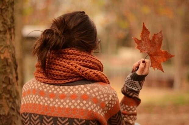 осень, женщина, счастье