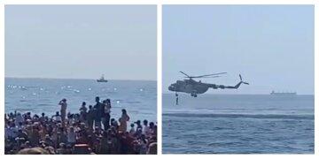 Залпы военных кораблей НАТО возле порта всполошили одесситов: кадры с места