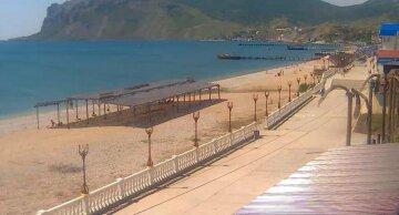 Крым пустые пляжи