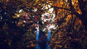 девушка, осень