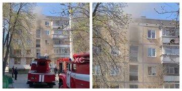 В харьковской высотке разгорелся сильный пожар, людей эвакуировали: кадры с места