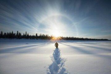 сонце сніг