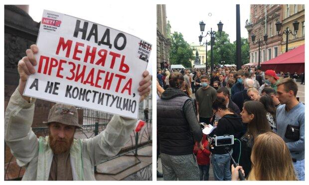 """""""Путин, уходи"""": протесты охватили Москву и Санкт-Петербург, озлобленные россияне вышли на улицы"""