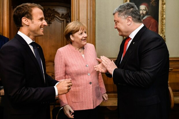 порошенко, меркель, макрон