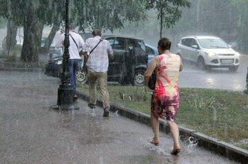 дождь, люди, погода, природа
