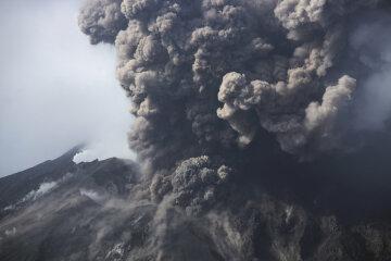 вулкан, пепел