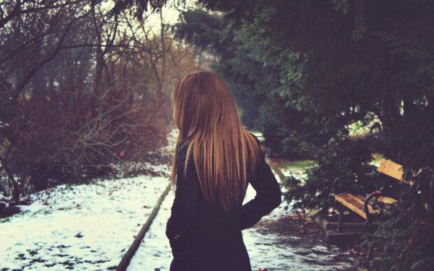 одиночество, женщина, осень, зима