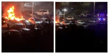 У Харкові за одну ніч згоріло шість машин: деталі і фото з місця НП