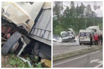 Вантажівка влаштувала жорстку ДТП на трасі Київ-Одеса, відкинуло на узбіччя: кадри аварії