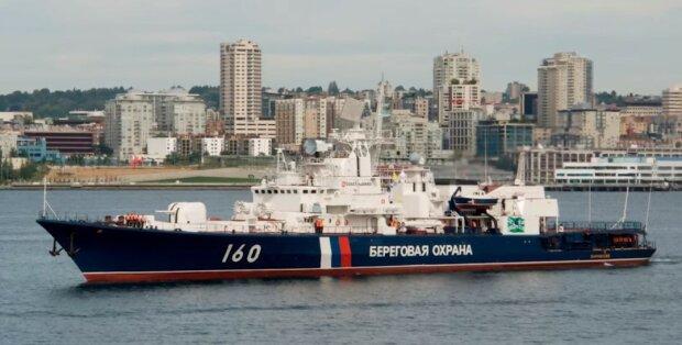 Корабль ФСБ подобрался к Бердянску: забита тревога, видео