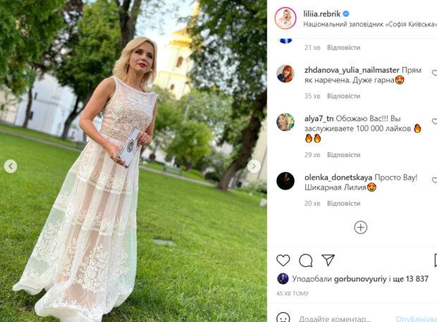 40-летняя Лилия Ребрик в белоснежном платье наделала шуму, в сети ахнули: «Прям как невеста…»