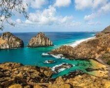 Бразилия, скалы, море