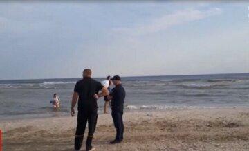полиция, пляж, море