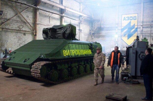 Начались испытания уникальной украинской боевой машины «Азовец» (фото)