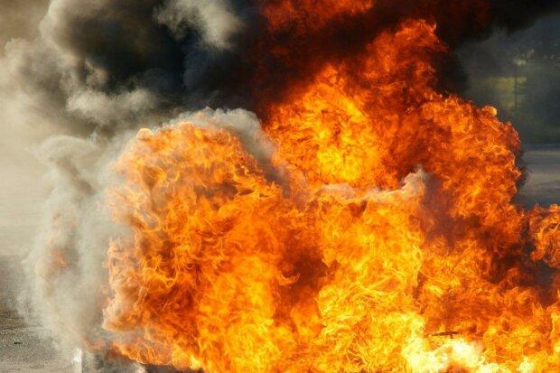 взрыв, огонь ,пожар