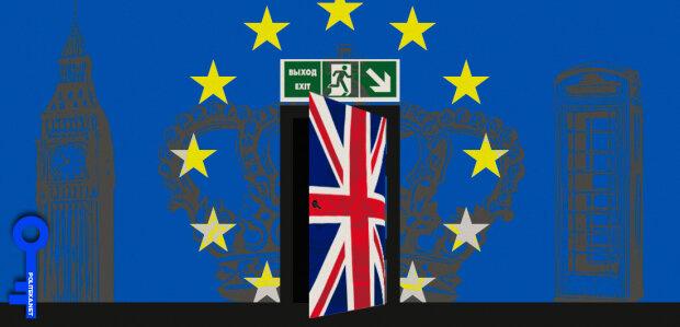 Коллаж. Британия-ЕС