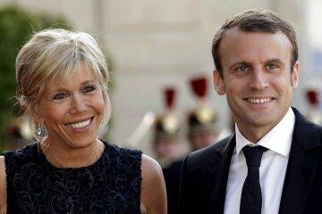 Макрон и жена 2