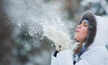 зима, щастя, радість, жінка