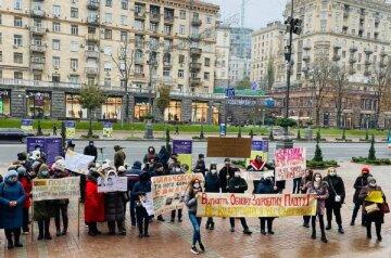 """Пальчевский не заплатил за работу на выборах, люди вышли на протест в центре Киева: """"Верните наши деньги"""""""