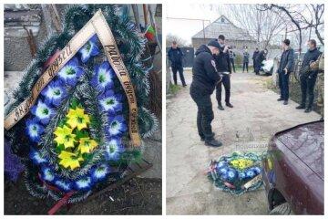 """Во дворе дома на Одесчине прогремел взрыв, кадры ЧП: """"Подбросил похоронный венок"""""""