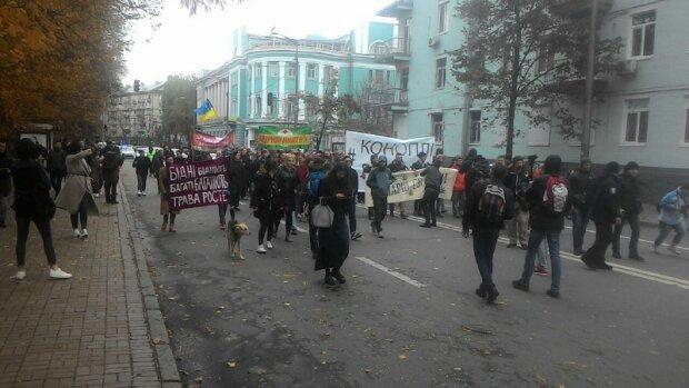 Конопля лечит, мы не бандиты: чем завершился «марш наркоманов» в Киеве
