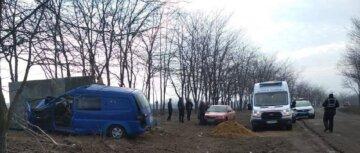 Микроавтобус на скорости слетел с дороги и врезался в бетон, выживших нет: кадры аварии