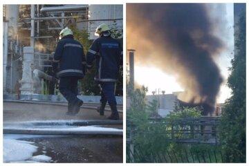 Пожар разбушевался на одесском НПЗ: спасатели показали кадры последствий ЧП